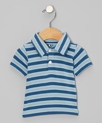 Twilight Stripe Short-Sleeve Polo - Infant, Toddler & Boys