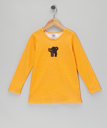 Yellow Cat Tee - Toddler & Girls