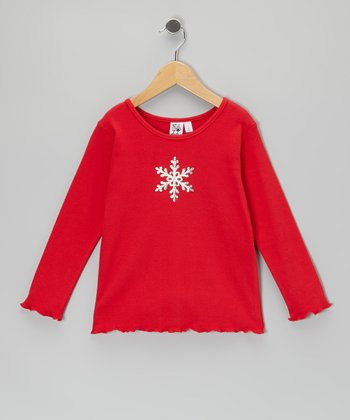 Red Snowflake Tee - Toddler & Girls