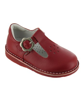 Red Madeline T-Strap Shoe