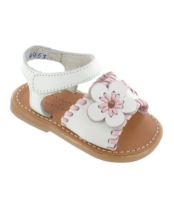 White Lil Rica Leather Sandal