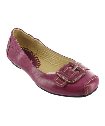 Fuchsia Burnished Chelsea Flat