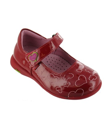 Red Patent Kiddie Heart Mary Jane
