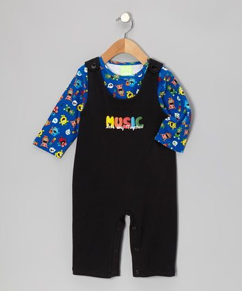 Music Man Tee & Overalls - Infant