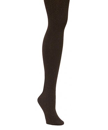 Coffee Bean Snakeskin Opaque Tights