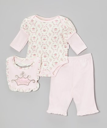 Pink 'Princess' Bodysuit Set