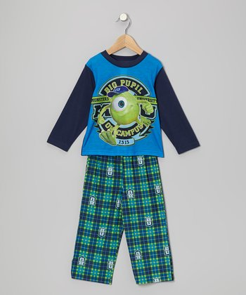 Blue Monsters U Pajama Set - Toddler