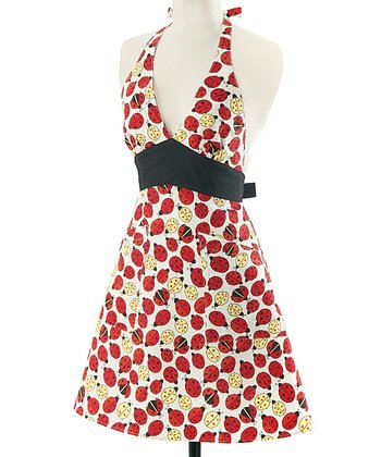 Lucky Bug Halter Apron - Women