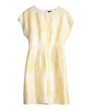 Yellow Watercolor Hour Glass Molded Dress