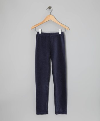 Navy Corduroy Leggings - Girls