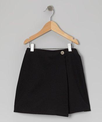 Black Wrap Skirt - Girls