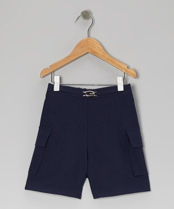 Navy Cargo Shorts - Girls