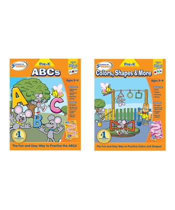 Pre-K ABC & Colors, Shapes & More Workbook Set