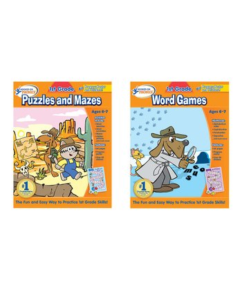 1st Grade Puzzles, Mazes & Word Games Workbook Set