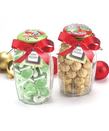 Global Amici Holiday Lock-Tight Jar - Set of Two
