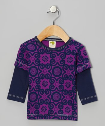 Violet Flora Organic Layered Tee - Infant, Toddler & Kids