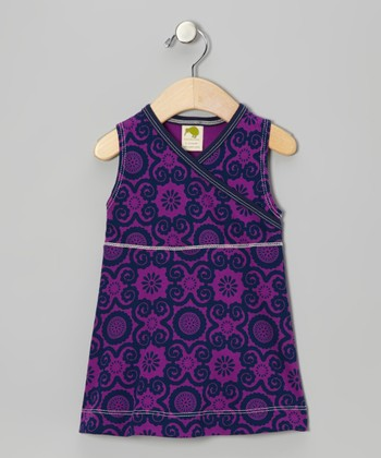 Violet Flora Organic Surplice Dress - Infant