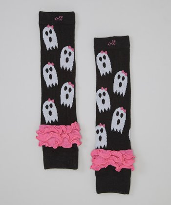 Girly Ghost Ruffle Leg Warmers