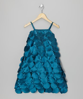 Blue Circle Cutout Dress - Infant, Toddler & Girls