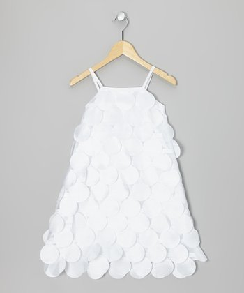 White Circle Cutout Dress - Infant, Toddler & Girls