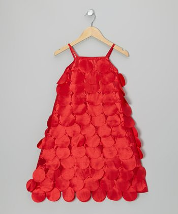 Red Circle Cutout Dress - Toddler & Girls