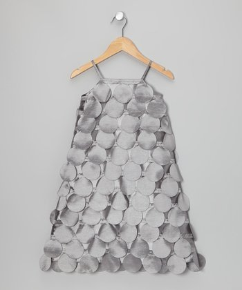 Gray Circle Cutout Dress - Infant, Toddler & Girls