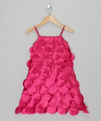 Fuchsia Circle Cutout Dress - Infant, Toddler & Girls