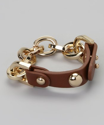 Brown & Gold Link Bracelet