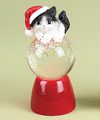 Black & White Kitten Snow Globe