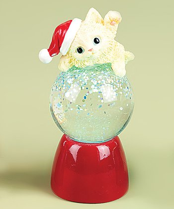 Blonde Kitten Snow Globe