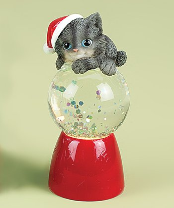 Gray Kitten Snow Globe