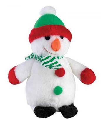 White Snowman Plush Pet Toy
