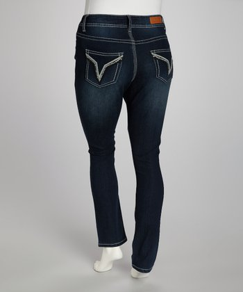 Dark Wash Skinny Jeans - Plus