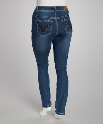 Light Wash Skinny Jeans - Plus