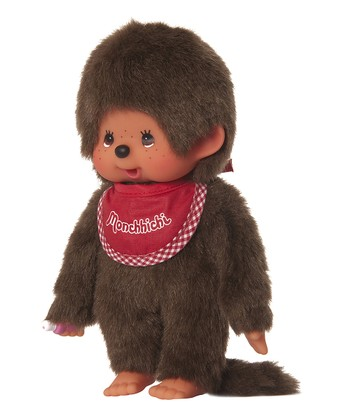 8'' Red Bib Boy Monchhichi Plush Toy
