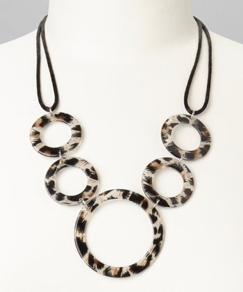 Brown & Beige Animal Circle Necklace