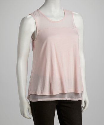 Cotton Candy Mesh Layered Tank