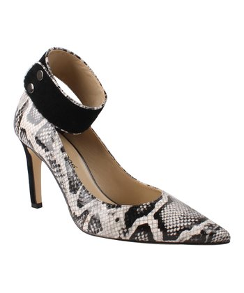 Black & White Snakeskin Marli Pump