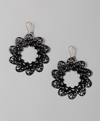 Black Around The World Earrings