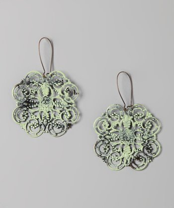 Mint Four Corners Earrings