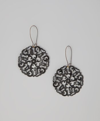 Black Urban Round Earrings