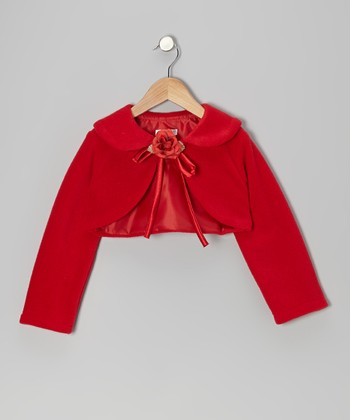 Red Rose Bolero - Toddler & Girls