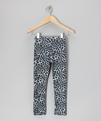 Gray Leopard Leggings - Infant, Toddler & Girls