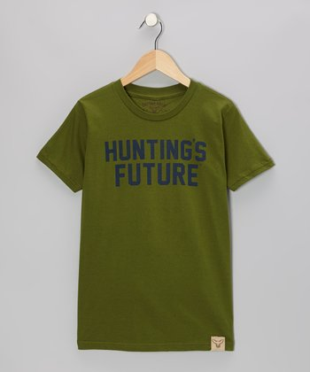 Green 'Hunting's Future' Tee - Kids