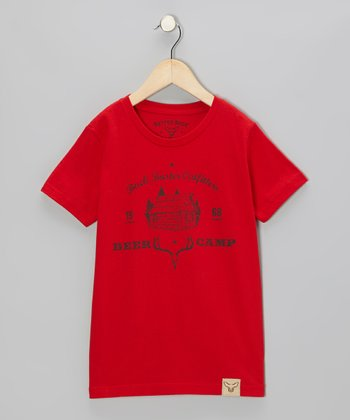 Red 'Deer Camp Guide' Tee - Toddler & Kids