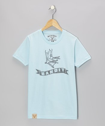 Light Blue 'Bandit' Tee - Kids