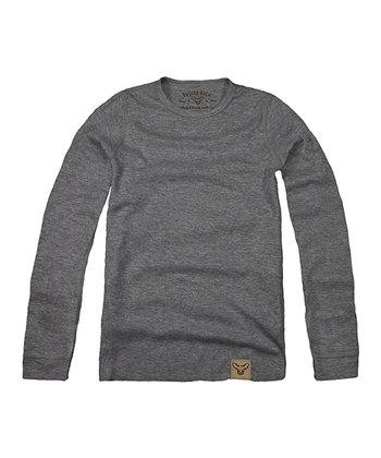 Gray Layering Henley - Toddler & Kids