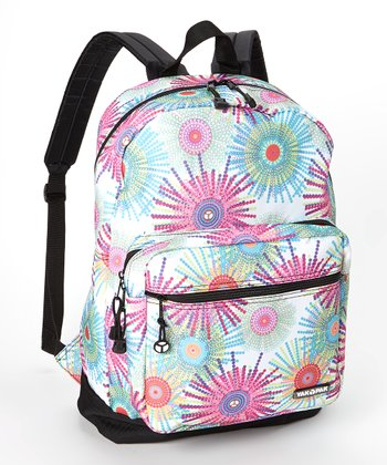 Pink & Blue Fireworks Student Backpack