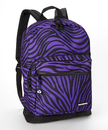 Purple Zebra Student Backpack