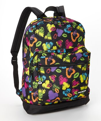 Black Hearts & Lips Student Backpack